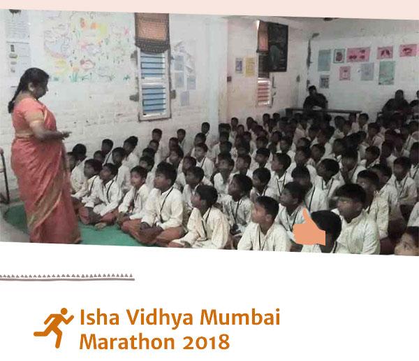 Isha Vidhya Mumbai Marathon 2018