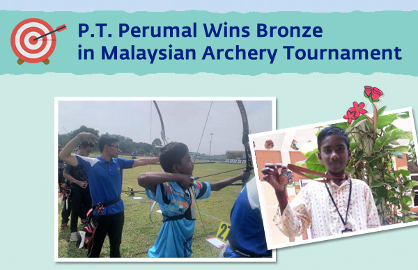 P.T Perumal Wins Bronze in Malaysian Archery Tournament
